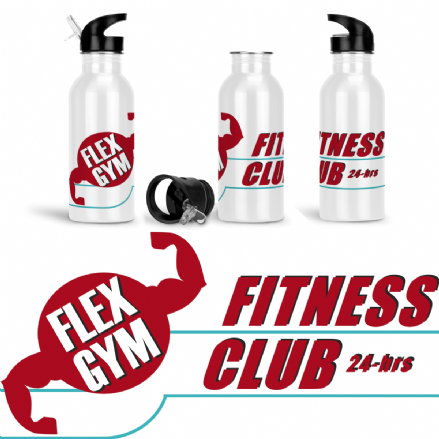 Flex Gym Fitness Club Sports Water Bottle Inspired by South Park
